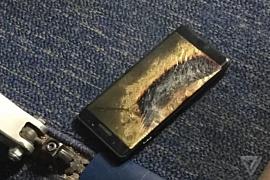 «Безопасный» Galaxy Note 7 загорелся в салоне самолета