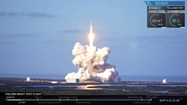 Запущенная ночью в космос Tesla не попадет на орбиту Марса