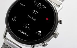 Skagen выпустила умные часы Falster 2 с GPS и сенсором сердцебиения