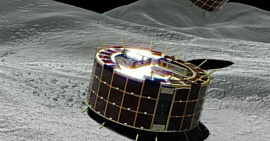 Японские роботы сели на астероид в 290 миллионах километров от Земли