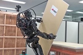 Японцы научили робота устанавливать гипсокартон