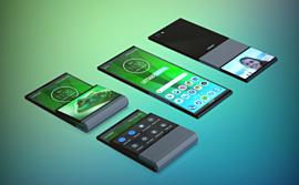 Lenovo запатентовала смартфон, который сгибается вертикально