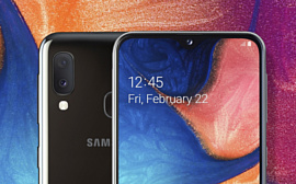 Samsung показала бюджетный смартфон Galaxy A20e
