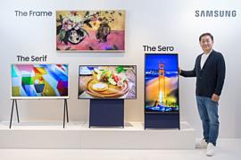 Samsung показала вертикальный телевизор The Sero