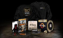 AMD отметила 50-летие выпуском «золотых» версий Ryzen 7 2700X и Radeon VII