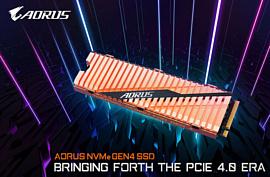 Gigabyte анонсировала скоростной накопитель Aorus NVMe Gen4 SSD