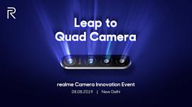 Realme анонсирует смартфон с 64-мегапиксельной четверной камерой 8 августа