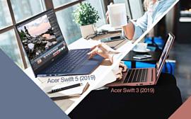 Acer оснастила новые лаптопы Swift 5 и Swift 3 процессорами Intel Core 10 поколения и видеочипами GeForce MX250