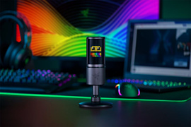 Новый RGB-микрофон Razer Seiren Emote может отображать эмотиконы
