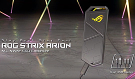 ASUS представила ROG Strix Arion — USB 3.2 Gen 2 M.2-бокс для SSD с RGB