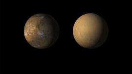НАСА рассказало о столбах пыли на Марсе размером со штат Невада