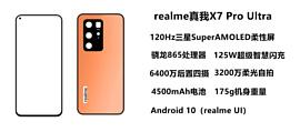 Realme X7 Pro Ultra получит поддержку 125-ваттной зарядки и 120-герцовый дисплей