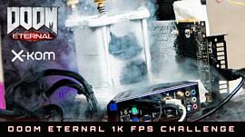 Оверклокеры достигли 1000 fps в DOOM Eternal с помощью жидкого азота