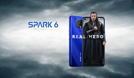 Tecno показала недорогой 6.8-дюймовый смартфон Spark 6