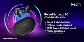 Redmi выпустила новые гарнитуры EarBuds 2C и SonicBass