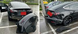 Tesla предупредила о том, что «бамперы некоторых Model 3 могут отлетать во время сильного дождя»