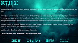 Релиз Battlefield 2042 перенесен на 19 ноября