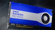 AMD анонсировала профессиональные видеокарты Radeon Pro W6800 и W6600
