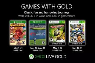 Microsoft рассказала о бесплатных играх для подписчиков Xbox Live Gold в мае