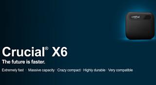 Crucial выпустила недорогие портативные SSD X6