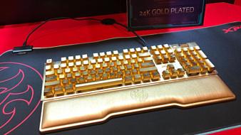 XPG привезла на CES 2020 позолоченную клавиатуру за $10 тысяч