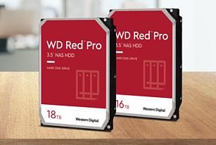 Western Digital добавила в линейку Red Pro 16- и 18-терабайтные HDD