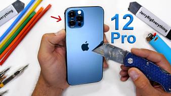 Видео: «керамический щит» Apple iPhone 12 Pro попробовали поцарапать