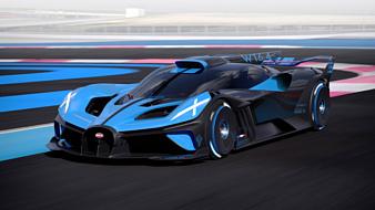 Bugatti Bolide — новый гиперкар мощностью в 1825 л.с.