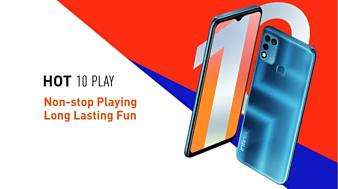 Infinix анонсировала недорогой смартфон Hot 10 Play с 6.82-дюймовым экраном