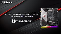 ASRock X570 Phantom Gaming ITX/TB3 — первая материнская плата с чипсетом AMD, которая получила сертификат Thunderbolt
