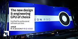 AMD выпустила профессиональную видеокарту Radeon Pro W5500