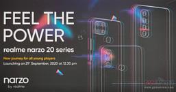 Realme представит смартфоны Narzo 20 через неделю