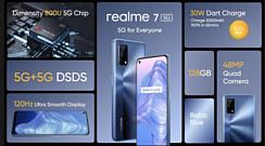 Realme представила смартфон 7 5G с Dimensity 800U и 120-герцовым экраном