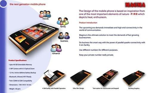 Концепт телефона Magma справится с 4 SIM-картами сразу