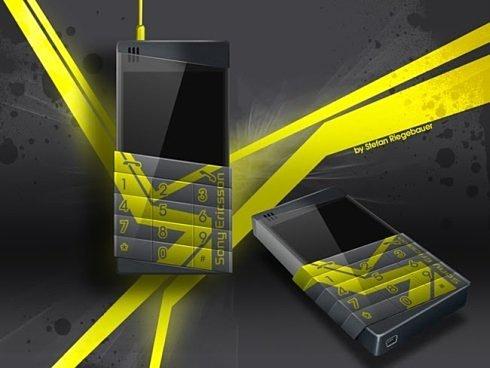 Концептуальный Sony Ericsson: телефон, пораженный молнией
