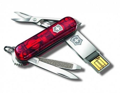 В швейцарских ножиках спрятали USB-флэшки
