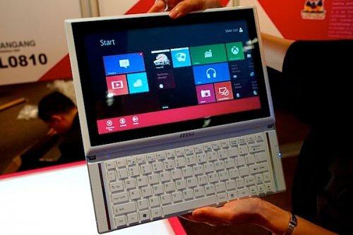 Computex 2012: MSI Slider S20 – планшет-слайдер на базе Windows 8