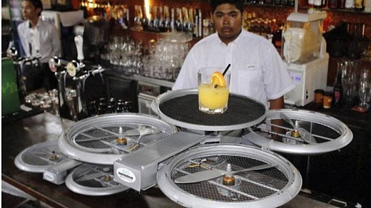 Сингапурский ресторан будет использовать для доставки блюд дронов