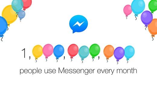 Facebook Messenger пользуются больше миллиарда человек