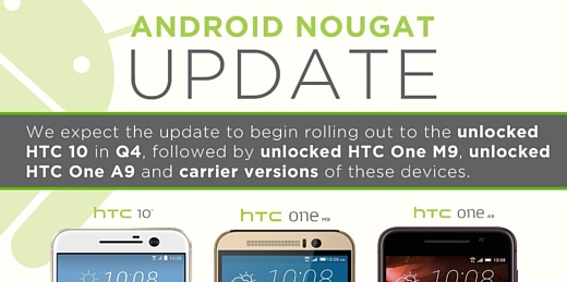 HTC 10 получит Android 7.0 Nougat до конца года