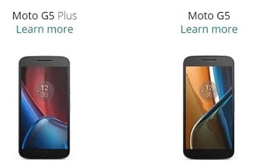 Утечка: фото и характеристики Motorola Moto G5 и Moto G5 Plus