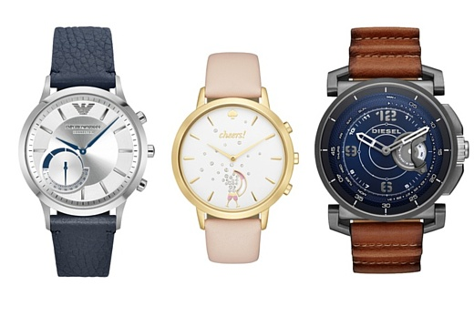 Fossil представила три новые модели гибридных умных часов