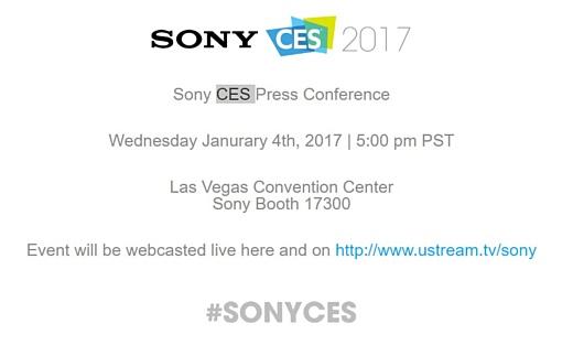 Sony объявила о своей пресс-конференции на CES 2017