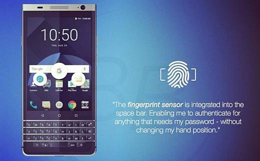 В сеть попал новый рендер BlackBerry Mercury (DTEK70)