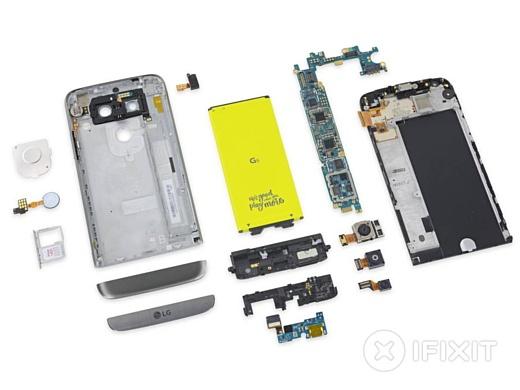 iFixit назвали LG G5 лучшим смартфоном года