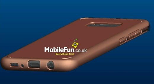 Рендеры Galaxy S8 намекают на аудиовыход и кнопку Bixby