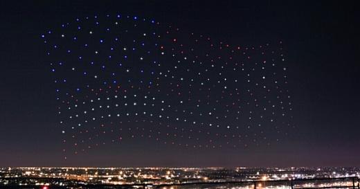 Видео: выступление Леди Гаги на Супербоуле украсили 300 дронами