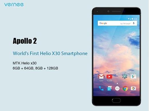 Первым смартфоном с MediaTek Helio X30 станет Vernee Apollo 2