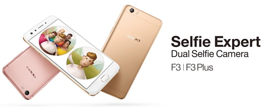 Oppo анонсировала селфи-смартфон F3 Plus