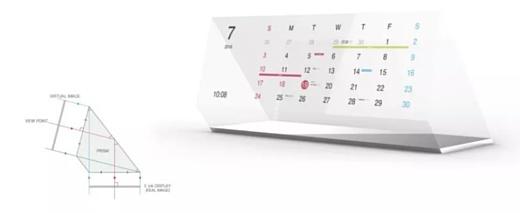Японский дизайнер показал календарь на электронной бумаге